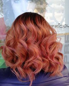 Peach 🍑 #change#hairchange#peachhair#pinkhair#glamouroushair#glam#instahair#silvi#salon#hairstylist#hairstyle#montesilvano#silvipaese#sempremeglio#top#ermejo#lavoro#passione#amore#mipiace#👍#instalike#sicresce#simigliora#sempre