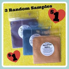 New in the store!! <3 Get 3 Samples for $1 <3