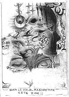 """""""Universo Underground"""" Nº 1. Fanzine de histórias em quadrinhos, poesias e crônicas. Autoria coletiva. Publicação em 1997."""