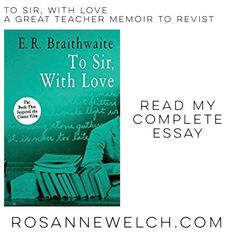 To Sir with Love  A great teacher memoir to revisit  Read my complete essay on RosanneWelch.com (link in my profile) #books #book #reading #teacher #teaching #education #uk #london #memoir