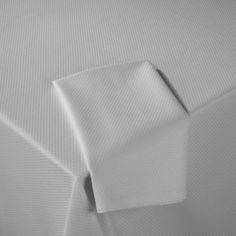 Diamond Allover Table Linens - White | Gracious Style