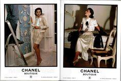 vintage Chanel ad by Karl Lagerfeld and Inès de la Fressange