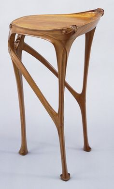 Side Table, Hector Guimard c. 1904-07. Pear wood