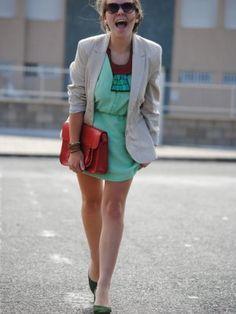 carolinagarciaipserandco Outfit   Primavera 2012. Combinar Vestido Verde suave/Manzana/Té Insight, Cómo vestirse y combinar según carolinagarciaipserandco el 5-5-2012
