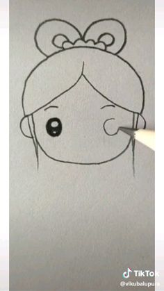Kitten Drawing, Girl Drawing Sketches, Cartoon Girl Drawing, Pencil Art Drawings, Cartoon Drawings, My Drawings, Cute Disney Drawings, Easy Drawings For Kids, Desenhos Pablo Picasso