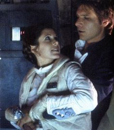 """Let go!"" ""Don't get excited!"" ""Being held by you is not enough to get me excited."" ""Well, we don't have time for anything else."" Han x Leia's banter game was on POINT haha- I mean, these two were non-stop!"