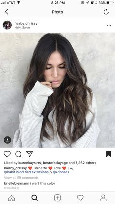 Mom Hairstyles, Sleek Hairstyles, Pretty Hairstyles, Hair Color Dark, Dark Hair, Ombre Hair, Balayage Hair, Brown Hair Inspiration, Fresh Hair