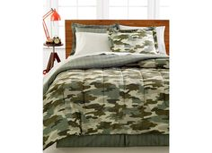 Green Camouflage Hunting Military Boys Full M Comforter Set (8 Piece Bed In A Bag) + HOMEMADE WAX MELT! //Price: $87.69 & FREE Shipping //     #bedding