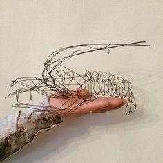 #wireart #wiresculpture #wire #wirework #針金 #ワイヤー #ワイヤーアート #handmade #zakka #手作り #雑貨 #伊勢海老 #エビ #lobster