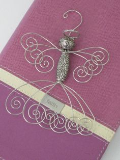 Angel, Christmas Ornament, Angel Ornament, Silver, Wire Angel, Tree Ornament, Inspirational on Etsy, $10.00