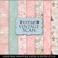 Freebies Christmas Wrapping Paper in Retro Style:Far Far Hill - Free database of…