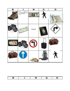 Bingo Travel Vocabulary Source by katherinekpo Core French, Picture Blog, Travel Words, Bingo, Travel Pictures, Vocabulary, Teaching, Traveling, Key