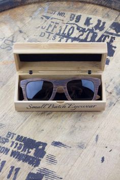 The perfect stylish gift for the Bourbon Lover. Each pair of high quality, polarized, unisex sunglasses are made from used Kentucky Bourbon barrels. You can still smell the bourbon in the wood.  Buy Now, they are limited production and going fast ! #bourbonandboots