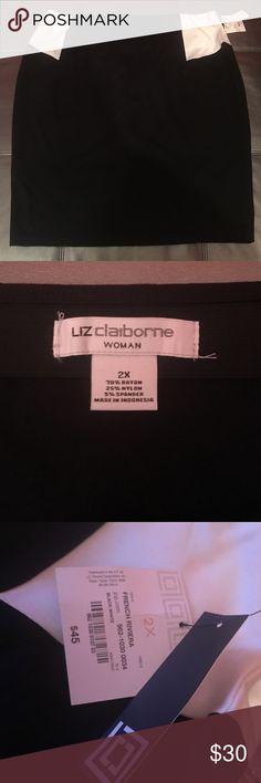 Colorblock Liz Claiborne Ponte Skirt Pull on color block ponte skirt.  70% rayon, 25% nylon & 5% spandex Liz Claiborne Skirts Pencil