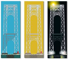 wonderful print (different colors for different seasons) of the George Washington Bridge by Tim Boyle, via Etsy  #NYC #WaHi