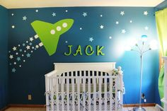 Jack's Nursery:  Main Wall @JustineErwin, this would be so cute for your  baby boy's room!