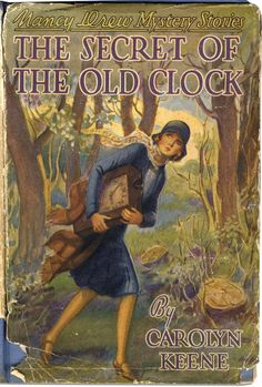 Vintage Nancy Drew Book Cover—The Secret of the Old Clock. the wonderous hours spent as a child reading Nancy Drew and the Hardy Boys. Nancy Drew Mystery Stories, Nancy Drew Mysteries, Cozy Mysteries, Murder Mysteries, I Love Books, Good Books, My Books, Vintage Book Covers, Vintage Children's Books