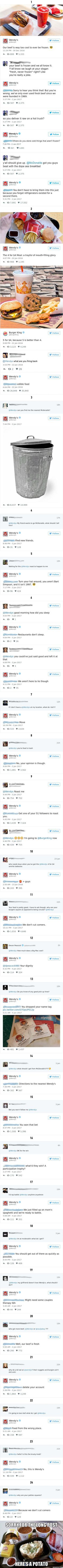 Wendy's is roasting people on Twitter, and it's hilarious #Marvel #comics #avengers