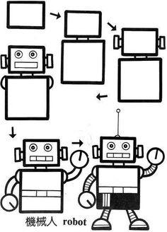 Dibujar robot