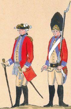 34. Regiment Gwardii Pieszej Koronnej - oficer i grenadier