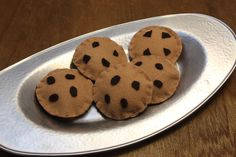 Felt Play Food  Chocolate Chip Cookies by fairviewpl on Etsy, $7.50