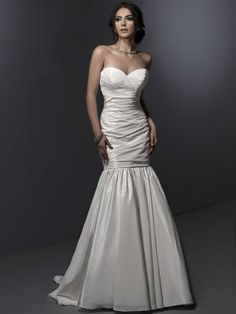 Sweetheart trumpet / mermaid taffeta bridesmaid dress