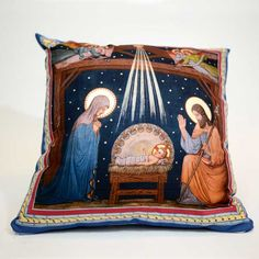 Quickly Update Your Home Decor and Continue the Advent Tradition When You Do Your Shopping Online at the Printery House. You'll Find Throws, Table and Pillow Covers, Runners, Wrapped Canvases, Wall Banners, Centerpieces and More at http://www.printeryhouse.org/. Pictured Here: Basilica Nativity Pillow Cover Design 3.