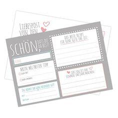 50 Frau Wundervoll Postkarten Hochzeitsspiel - Wünsche für eine gute Ehe - 10,5 x 14,8 cm, 300 Gramm Papier