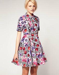 ASOS Shirt Dress in Cherry Print
