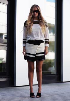 Isabel Marant skirt / H&M studio top / Sportmax heels / Fashion / Blog