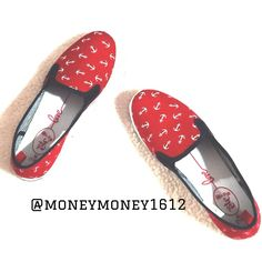 Rue 21 Gorgeous Red Anchor Shoes