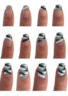 Nail Art Step by Step - Nail Art Step by Step , Three Easy Nail Art Designs Dry Brush Nails Step by Nail Art Diy, Easy Nail Art, Cool Nail Art, Easy Art, Stylish Nails, Trendy Nails, Cute Nails, Simple Nail Designs, Nail Art Designs