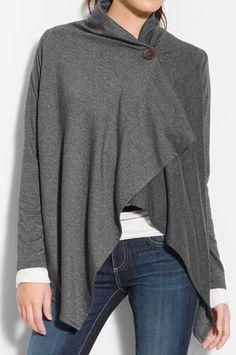 Love this asymmetrical fleece wrap cardigan! http://rstyle.me/n/etcbtnyg6