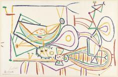 Pablo Picasso. Composition. 1948