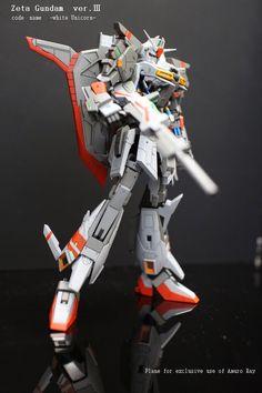 "RG 1/144 Zeta Gundam ""White Unicorn Ver."" Custom Build - Gundam Kits Collection News and Reviews"