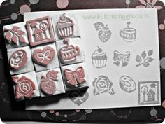 handcarved mini stamps