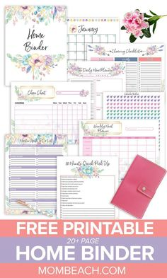 Do you want your home clean and organized? Then, check out this free page Home Binder right away. It has free printable cleaning worksheets, a home project planner, a home maintenance planner, fre To Do Planner, Family Planner, Project Planner, Free Planner, College Planner, College Tips, Weekly Planner, Binder Planner, Study Planner