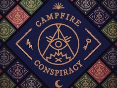The final cover art for my band's demo, which is available here: http://campfireconspiracy.bandcamp.com/album/demo  It includes a free wallpaper of the tiling CC logos you see in the background.