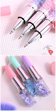 Girly Things, Cool Things To Buy, School Suplies, Kawaii Pens, Cool School Supplies, Cute Pens, Cute Stationary, School Accessories, Kawaii Stationery