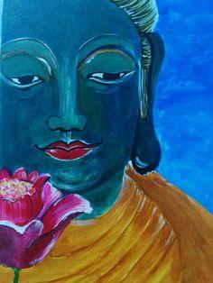 My Colorful Buddha with the Lotus #buddha # peace #lotus