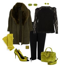 """""""Smoking- plus size"""" by gchamama ❤ liked on Polyvore featuring River Island, Giuseppe Zanotti, Mehry Mu, Oliver Peoples and MICHAEL Michael Kors"""