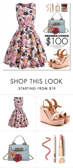"""Summer Dresses"" by oshint ❤ liked on Polyvore featuring Gucci, Charlotte Tilbury and vintage"