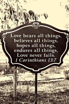 Love - 1Cor 13:7