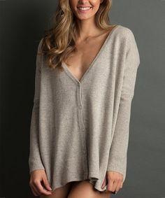 Look what I found on #zulily! Mauve Wool-Blend Sweater #zulilyfinds