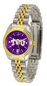TCU Texas Christian Ladies Gold Dress Watch SunTime. $141.95