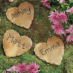 Need a unique gift? Send Heart Stepping Stone and other personalized gifts at Personal Creations. Garden Types, Unique Gardens, Amazing Gardens, Unique Garden Decor, Easy Garden, Garden Art, Garden Crafts, Garden Design, Hydrangea Care