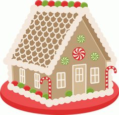 Silhouette Design Store - View Design #70312: gingerbread house