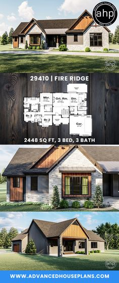 Perfect Craftsman Home Family House Plans, New House Plans, Dream House Plans, House Floor Plans, My Dream Home, Retirement House Plans, Up House, Craftsman House Plans, Story House