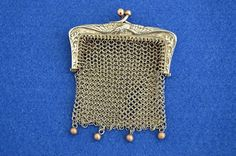 Miniature French Art Deco Solid Silver Mesh by BlackLobsterGallery