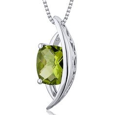 '.925 Sterling Silver Necklace - 1.50CT Genuine Peridot ' is going up for auction at  4pm Mon, Nov 19 with a starting bid of $10.